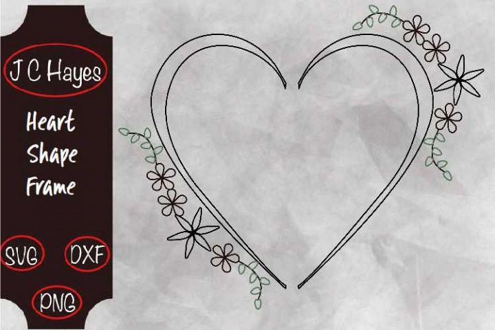 Heart Shape Frame, Single line file, Pen Foil, SVG, PNG, DXF