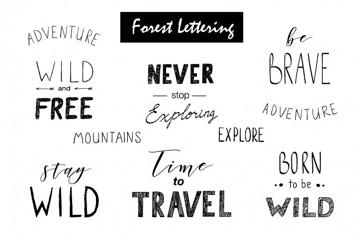 Wild Forest graphic pack - Free Design of The Week Design 2
