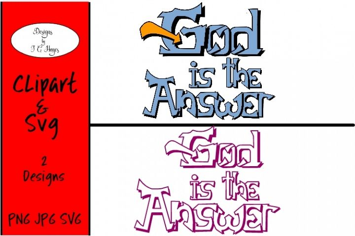 God is the Answer, Clip Art, SVG