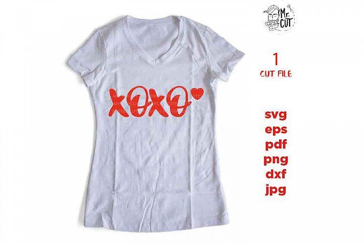 xoxo, I Love You Svg, Valentines Day Svg, Teacher Svg, kisse