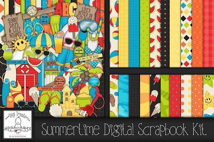 Summertime Digital Scrapbook Kit.