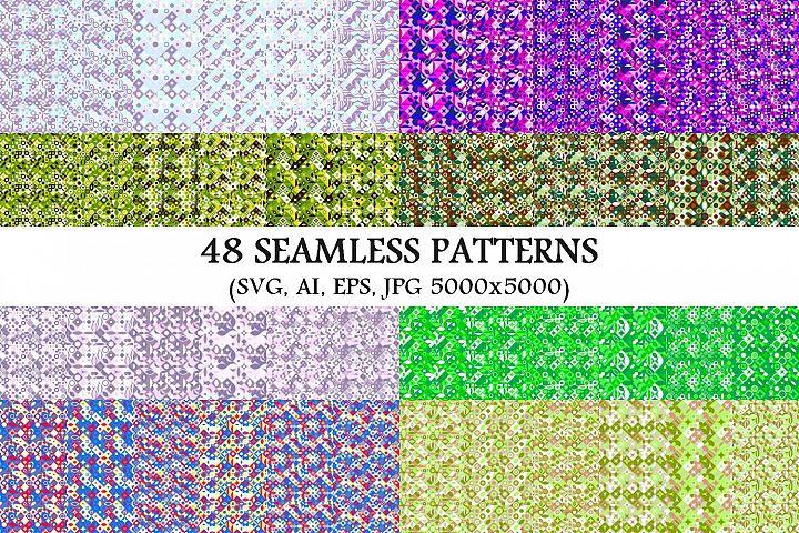48 Seamless Geometrical Patterns
