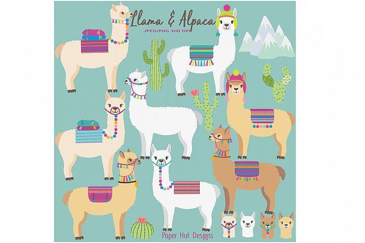 Llama and Alpaca Clipart