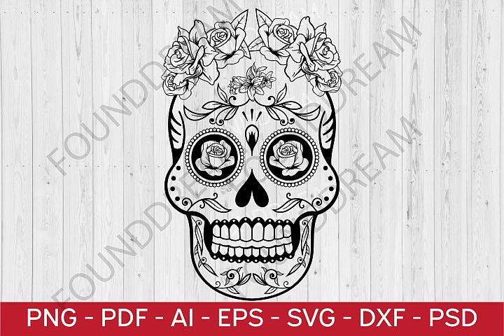 Sugar Skull SVG cut file