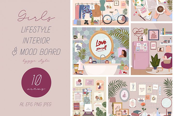 Lifestyle interior & mood board