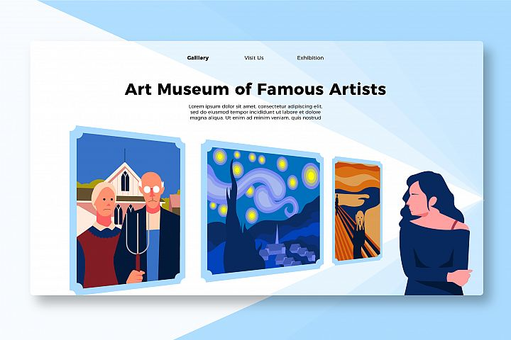 Most Famous Painting - Banner & Landing Page