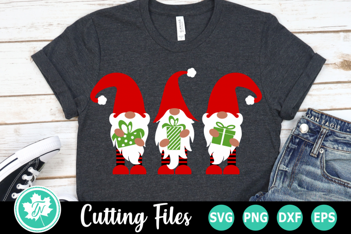 Gnomes with Gifts - A Christmas SVG Cut File