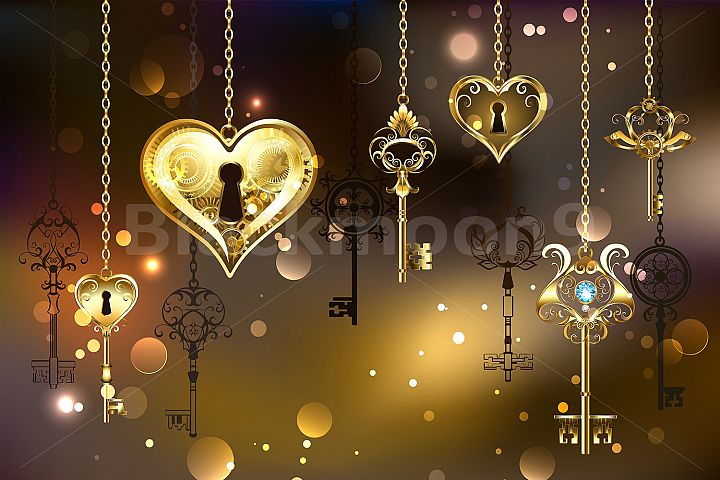 Closed Heart with Keys