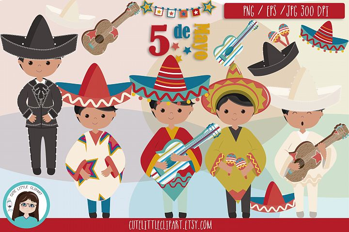 Cinco de Mayo Boys clipart