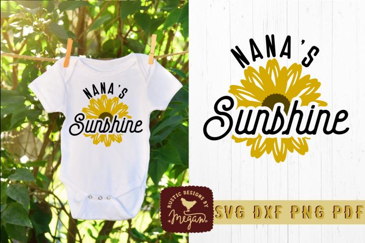 Nanas Sunshine Kids Summer Shirt SVG DXF Cut File