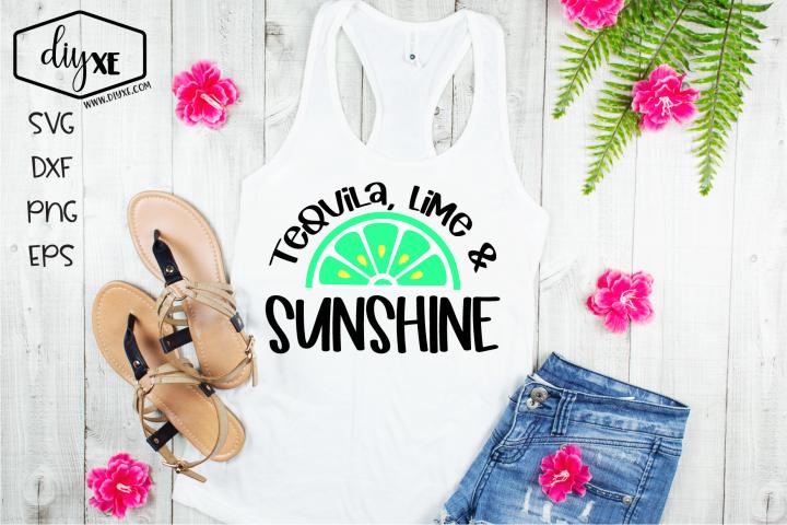 Tequila, Lime & Sunshine - A Beach SVG Cut File