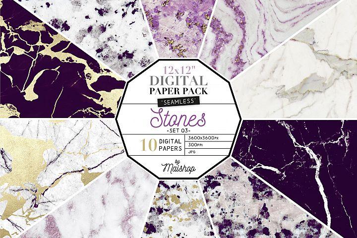 Seamless Digital Paper Pack - Stones Set 03