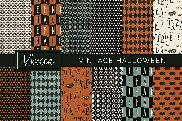 Vintage Halloween Digital Patterns