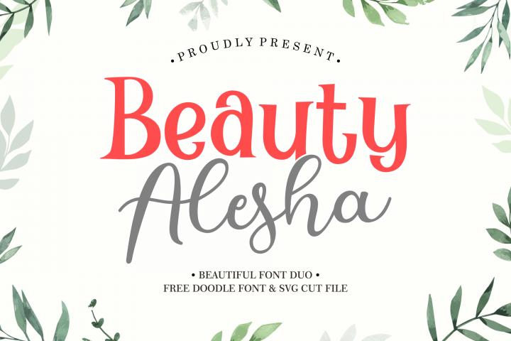 Beauty Alesha Font Duo