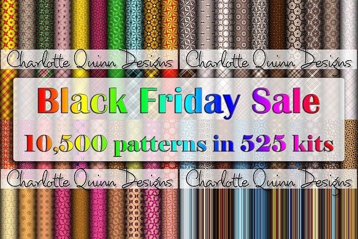 Black Friday 525 Digital Paper Kit Bundle