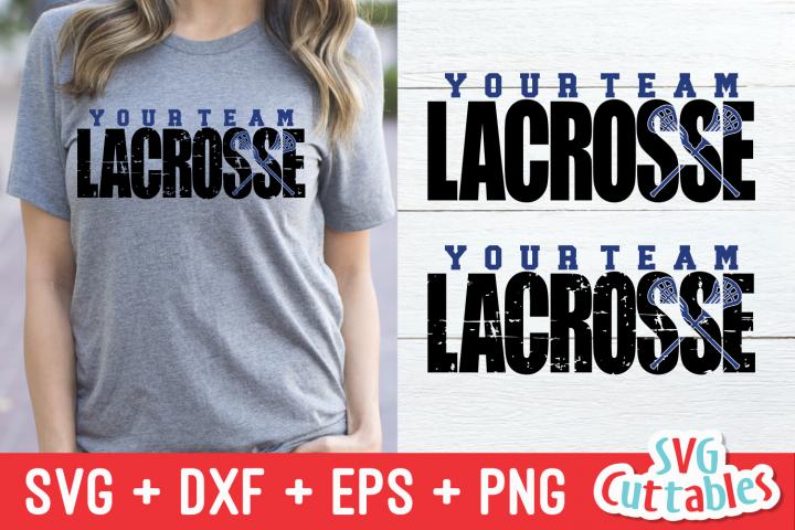 Lacrosse Distressed | SVG Cut File
