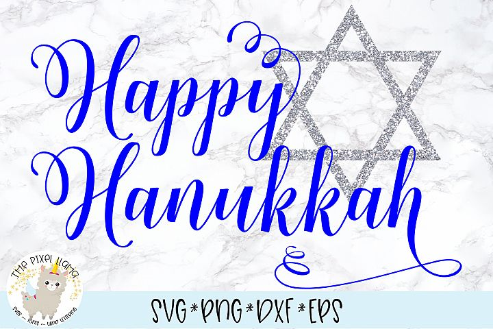 Happy Hanukkah SVG Cut File