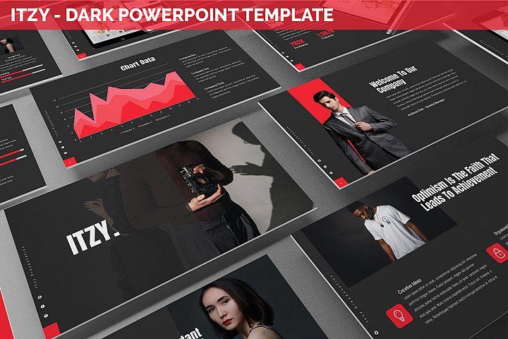 Itzy - Dark Powerpoint Template