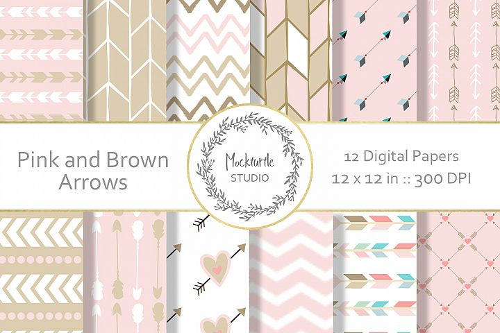 Pink Arrows digital paper