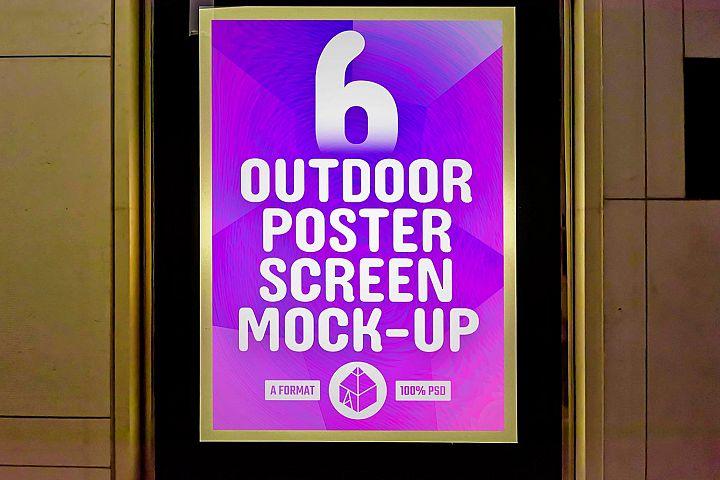 Outdoor Poster Screen Mock-Ups 3 / 6 PSD