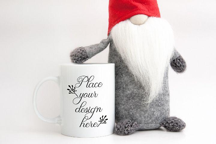 Holiday PSD mug mockup coffee christmas winter xmas mock up