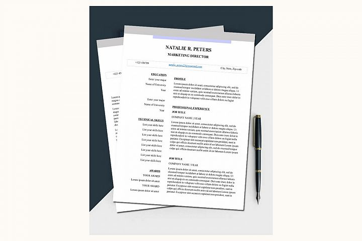 Simple resume – Natalie
