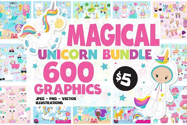 600 Graphics - MEGA Unicorn Bundle - 98OFF