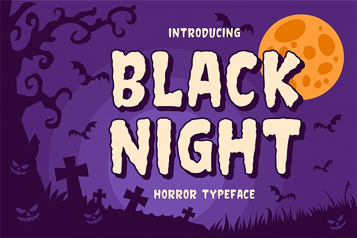 Black Night - Horror Typeface