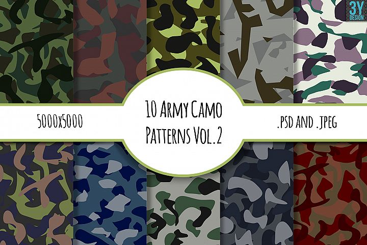 10 Army Camo Patterns Vol.2