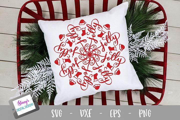 Mandala SVG - Jolly mandala svg - Christmas SVG