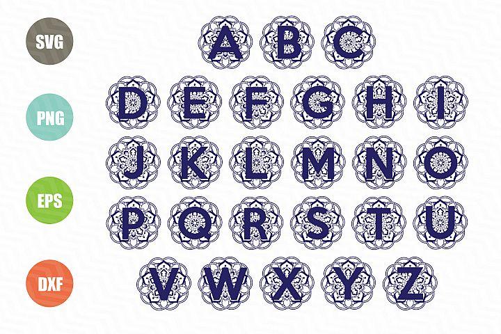Mandala Full Alphabet SVG Bundle
