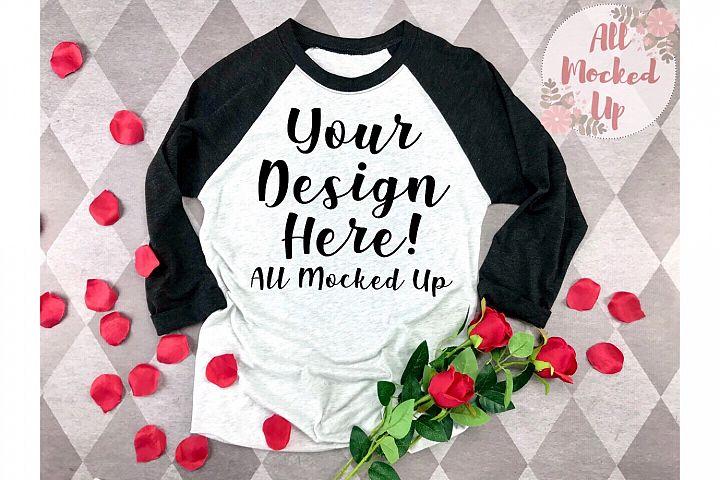 Next Level 6051 Shirt Mock Up Black Sleeve Valentines 1/20