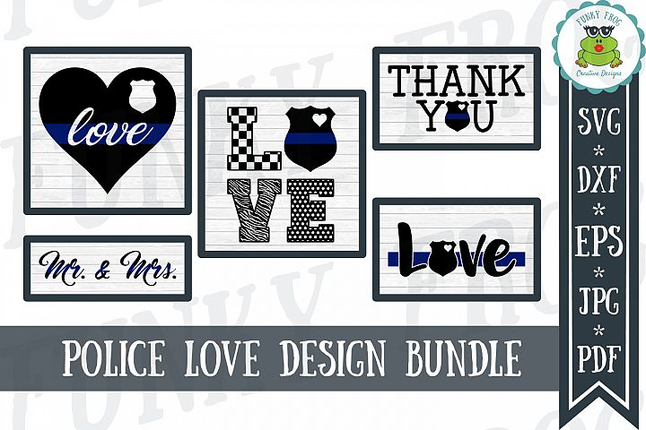 Police Love Design Bundle - SVG Cut Files for Crafters