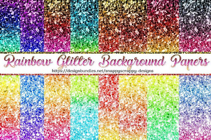 Rainbow Glitter Backgrounds