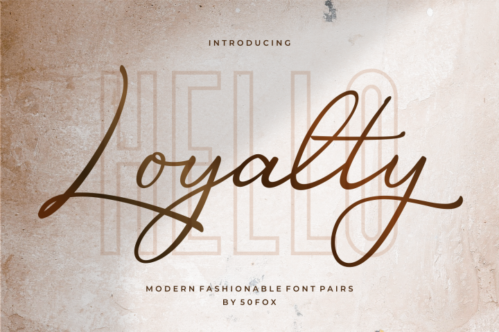 Luxury - Loyalty Script Fonts