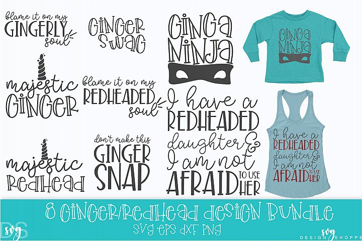 Ginger, Redhead, SVG, PNG, DXF, EPS