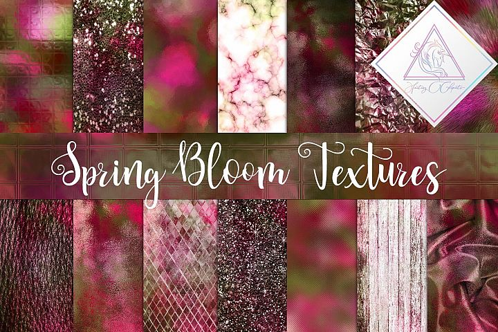 Spring Bloom Textures Digital Paper