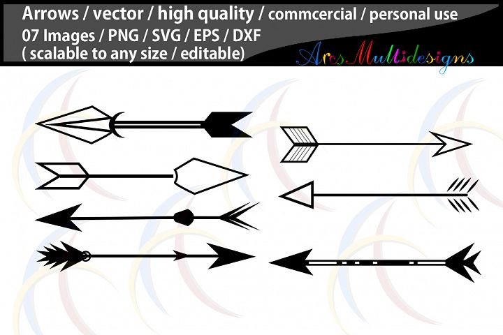 arrows silhouette / Arrows SVG file / commercial / personal use / illustration, vector file / Eps / Dxf / Png
