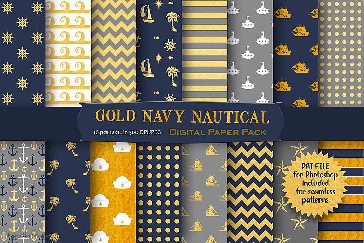 Nautical Pattern Digital Paper