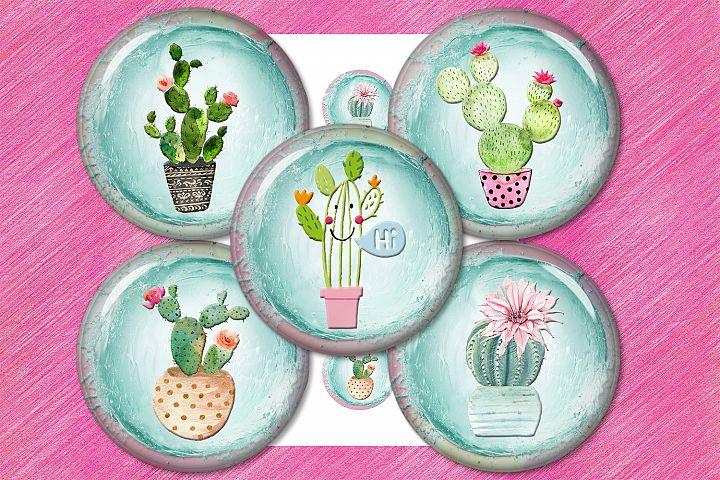 Cactus, Succulent, Pastel, Watercolor, gardening, SALE 50OFF