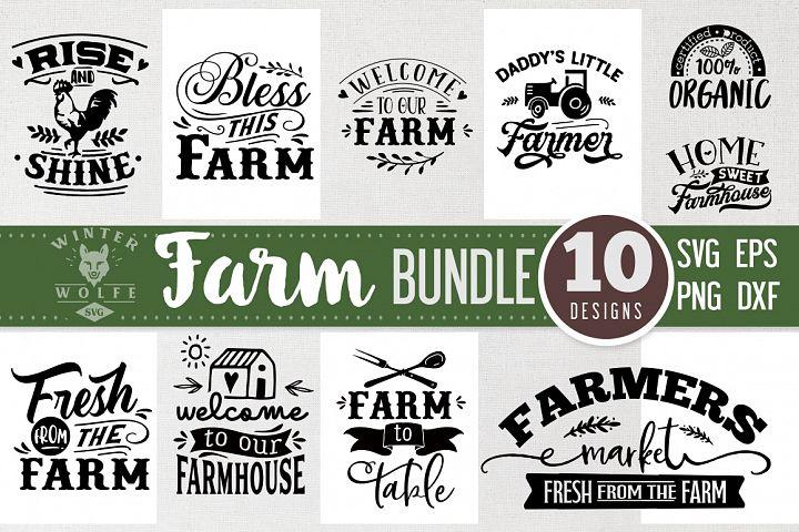 Farm Bundle 10 designs SVG EPS DXF PNG