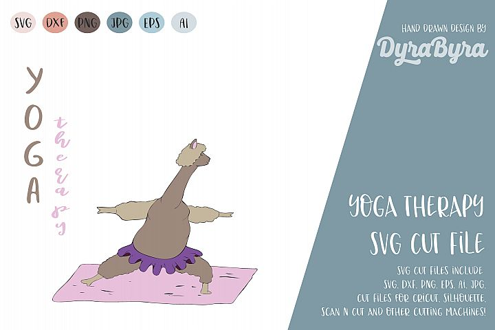 Yoga Therapy SVG / Llama SVG / Inhale Exhale / Yoga Vector