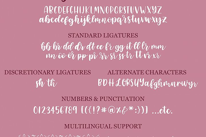 Lovely Letters Handwritten Font Duo, Script Font example image 7