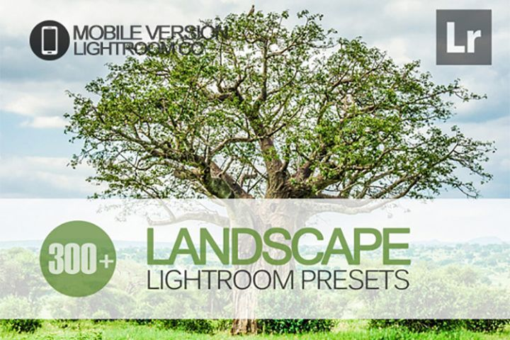 300 Landscape Lightroom Mobile bundle Presets