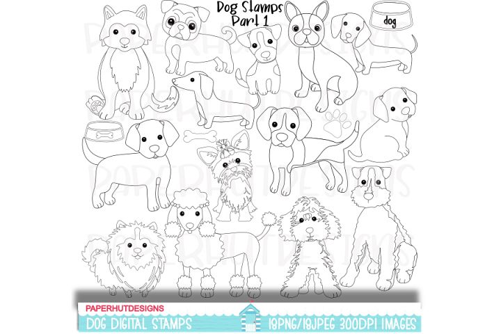 Dog Digital Stamps Part 1
