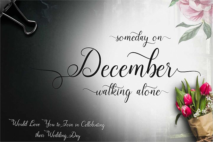 December Font example image 1
