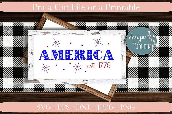 AMERICA est 1776 Craft File
