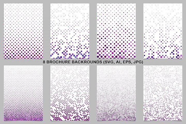 8 Purple Brochure Backrounds