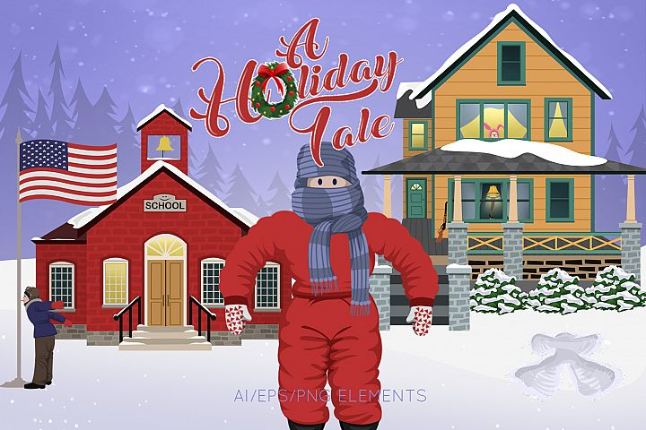 A Holiday Tale Christmas Graphics