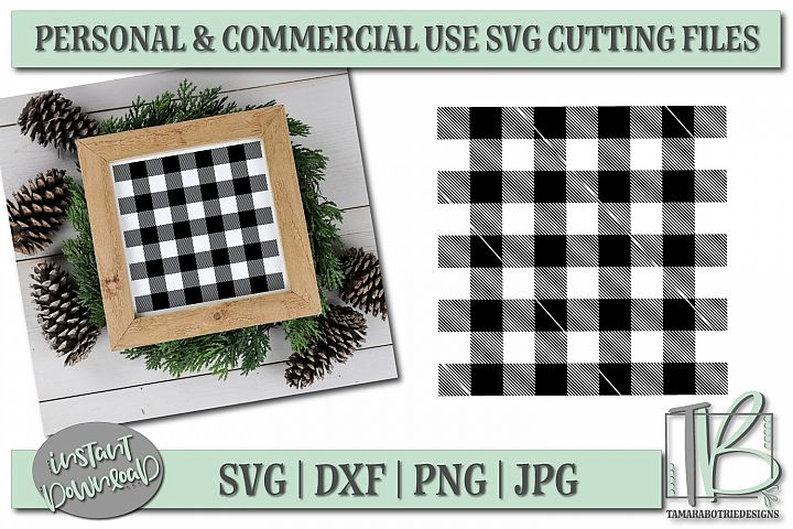 Buffalo Plaid Pattern SVG Cut File